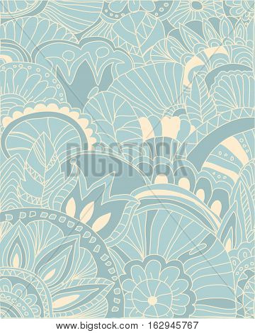 vector Beautiful abstract background with pattern and decorative flowers,abstract background