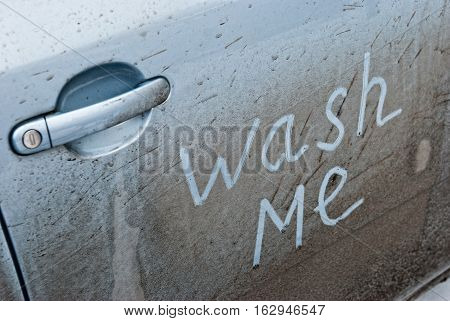 Concept photo of car that need car wash service