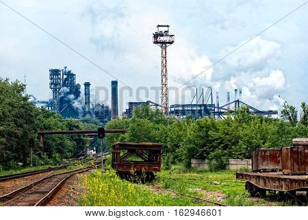 Heavy metal industrial plant damages the environment