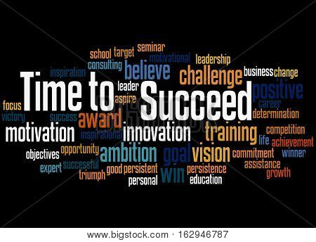 Time To Succeed, Word Cloud Concept 3