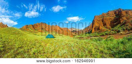 Panorama Of The Aeolian Mountains, Kyrgyzstan.