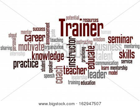 Trainer, Word Cloud Concept 9