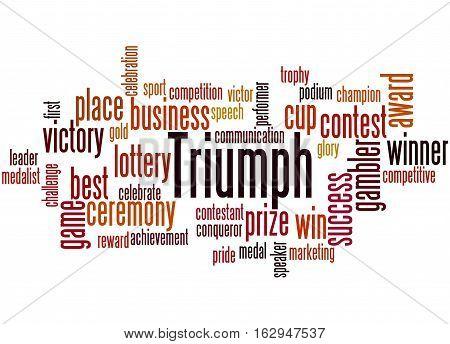 Triumph, Word Cloud Concept