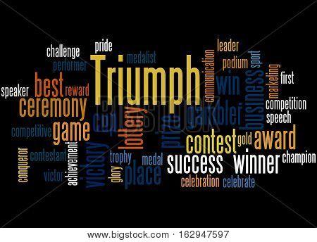 Triumph, Word Cloud Concept 3