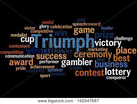 Triumph, Word Cloud Concept 6