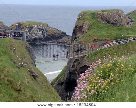 Rope Bridge, Carrick-a-rede, County Antrim, Northern Ireland
