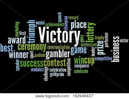 Victory, Word Cloud Concept 7
