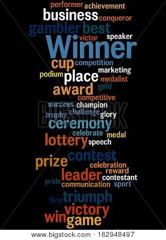 Winner, Word Cloud Concept 3