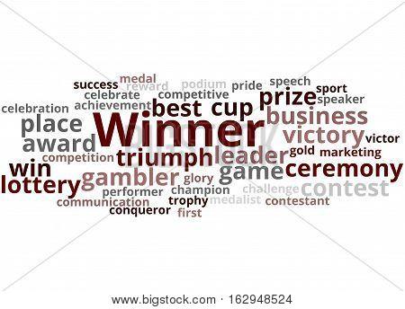 Winner, Word Cloud Concept 4