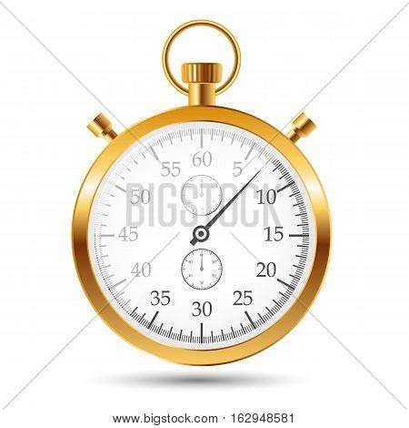 stopwatch vector illustraion Isolated on white. EPS10