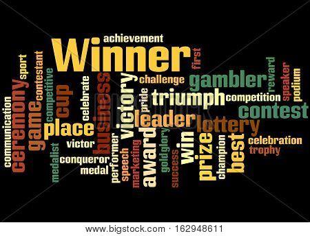 Winner, Word Cloud Concept 8