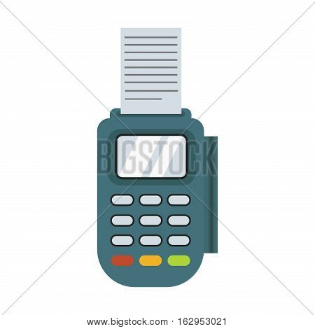 Financial safety concept payment acceptance isolated on white background. Bank transaction customer. Purchase technology buy concept terminal. poster