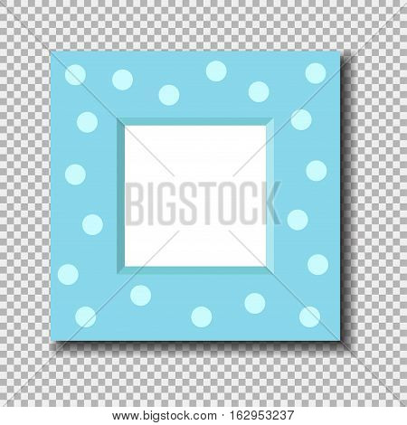 Antique photo frame isolated. Vintage cartoon picture painting or drawing template icon retro design vector illustration. Stylish wall gallery decoration.