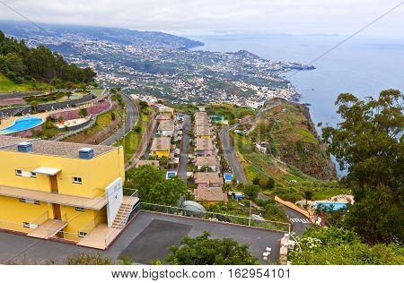 Atlantic Ocean Coast On Madeira Island, Portugal
