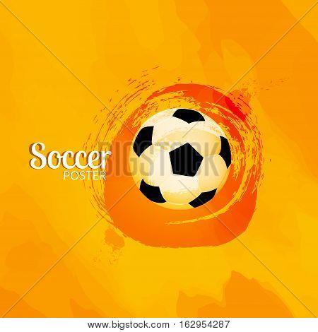 Soccer football poster design template. Soccer graphic banner.