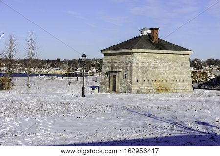 Blockhouse at Fort Trumbull State Park in New London Connecticut