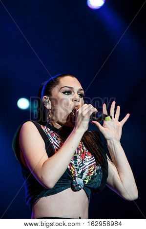 BELGRADE, SERBIA - JUNE 27TH: JESSIE J. PERFORMING ON BELGRADE CALLING FESTIVAL ON JUNE 27TH 2012, IN BELGRADE, SERBIA