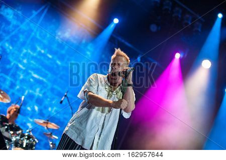 BELGRADE, SERBIA - JUNE 29TH: FORNTMAN JOHN LYDON OF BRITISH BAND PUBLIC IMAGE LIMITED PERFORMING ON BELGRADE CALLING FESTIVAL ON JUNE 29TH 2012, IN BELGRADE, SERBIA