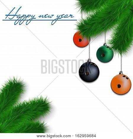 Bowling Balls On Christmas Tree Branch