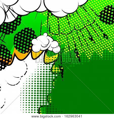Vector illustrated cartoon comic book style background.