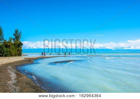 Resting On The Shores Of Lake Issyk-kul, Kyrgyzstan.
