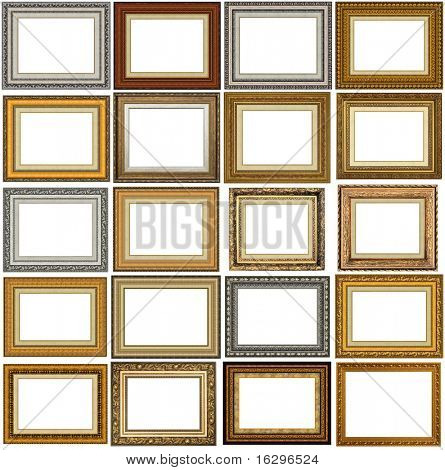 20 picture frames with a decorative pattern