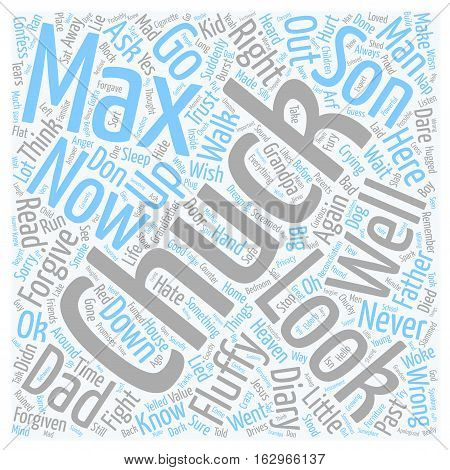 A Bad Dream text background wordcloud concept