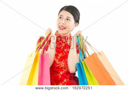 Holding Bags For Chinese New Year Shopping