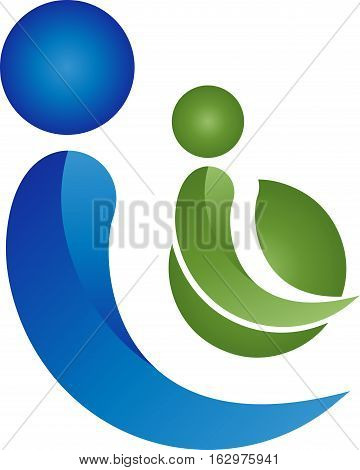 Two people together, couple and people logo