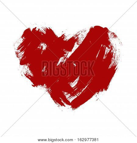 ragged red heart on a white background