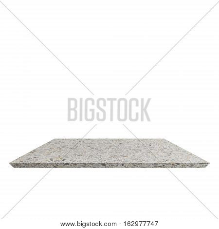 Shelf Terrazzo floor beautiful on white background