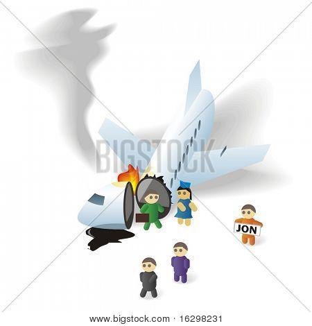 Vector crash plane icon