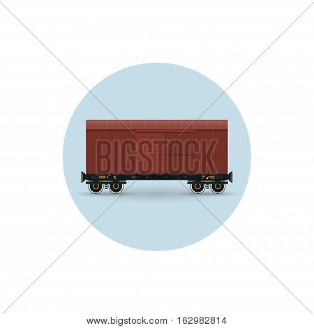 Icon of the covered freight car for transportation of goods the demanding protection against an atmospheric precipitation