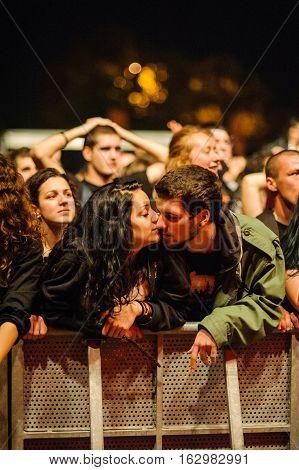 BELGRADE, SERBIA - SEPREMBER 19TH: FANS ENJOYING AT WARRIOR'S DANCE FESTIVAL ON SEPREMBER 19TH, 2012 IN BELGRADE, SERBIA