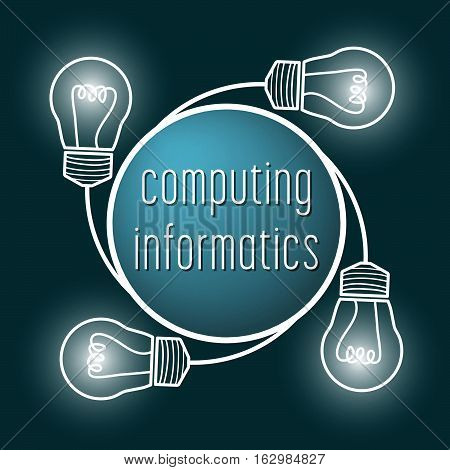 Abstract symbol with the words informatics; computing