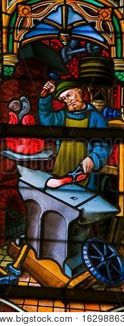 Stained Glass - Blacksmith At Work