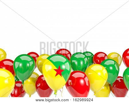 Flag Of French Guiana With Balloons