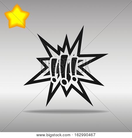 black Explosion Icon button logo symbol concept high quality on the gray background