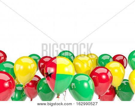 Flag Of Guinea Bissau With Balloons