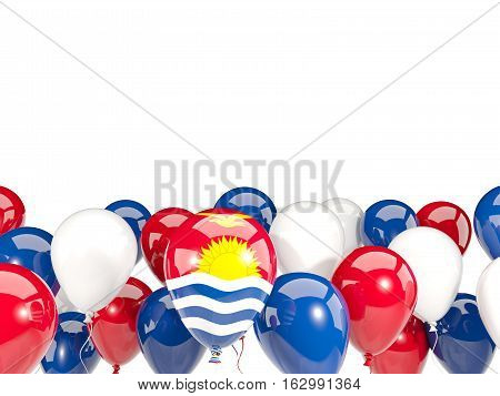 Flag Of Kiribati With Balloons
