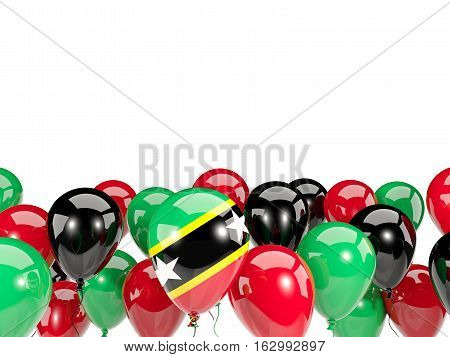 Flag Of Saint Kitts And Nevis With Balloons