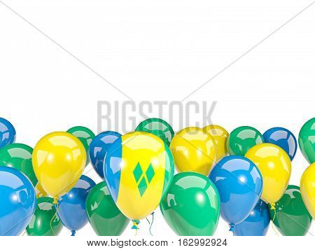 Flag Of Saint Vincent And The Grenadines With Balloons
