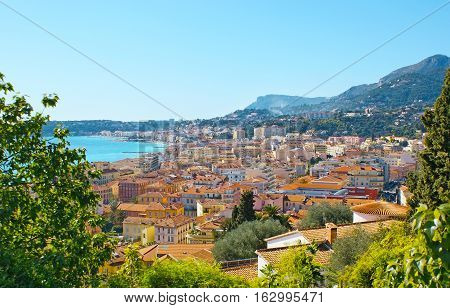 The Cityscape Of Menton