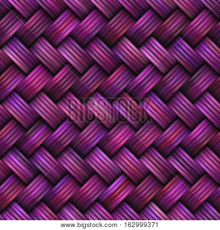 Twill Weave Texture. Abstract Geometric Background Design. Seamless Multicolor Pattern.