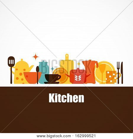 VectKitchen tools. The interior of the kitchen. Set of vector elements for the kitchen.or set of kitchen utensils for cooking.