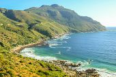 The winding stretch of road between Hout Bay and Noordhoek near Cape Town is one of the most attractive sightseeing monuments in South Africa. poster