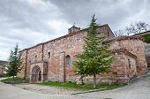 San Millan de Lara Church Burgos Province Spain. It was building on 1165 in Romanesque style. poster
