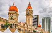 Bangunan Sultan Abdul Samad located along Jalan Raja in front of the Dataran Merdeka or Independence Square. The building serves as the backdrop for important events and parades poster