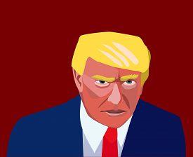 20 Dec, 2016: President of United States Donald Trump.. Picture of Donald Trump. Trump new president portrait.Donald Trump silhouette.Donald Trump angry caricature.