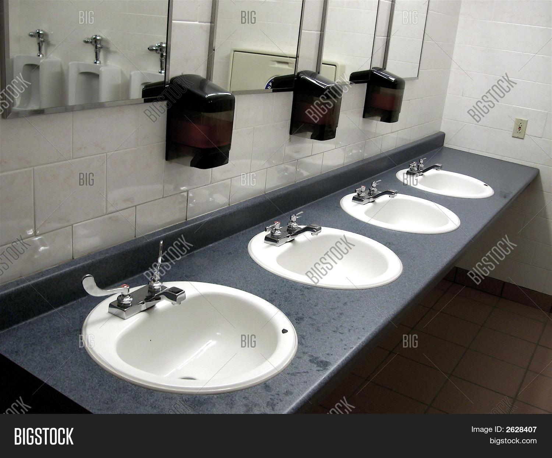 Public Bathroom Sink To Bathroom Public Sinks Image Photo free Trial Bigstock